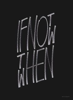 If not now in Typography