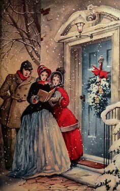 Vintage Christmas Carolers