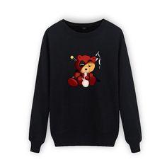 Deadpool/Smoking Teddy Design Sweatshirt  #sickguyapparel #clothingstore #clothingline #bemorenotordinary #sickguy #clothingbrand