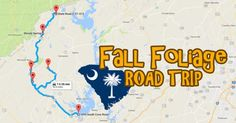 Take this amazing road trip to see South Carolina's fall foliage like never before! Rock Hill South Carolina, Upstate South Carolina, South Carolina Vacation, Camping In North Carolina, Vacation Trips, Day Trips, Family Vacations, Travelers Rest, Cata