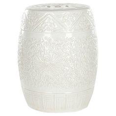 Handmade embossed ceramic garden stool.   Product: Garden stool  Construction Material: Ceramic  Colo...