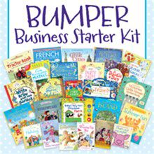 Join my Usborne team in May and receive an even bigger Bumper Business starter kit than usual, for only £38!