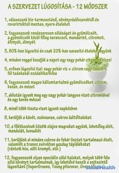 12 módszer-lúgosítás