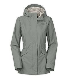 A flared A-line silhouette adds ease to this waterproof hooded rain jacket that's crafted in a longer 30.5-inch length and features a drop-tail hem for addition...
