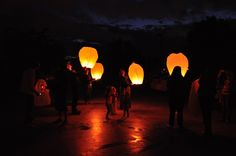 Floating Lanterns. Want to do this in honor of all of my family member who have past. At my wedding.