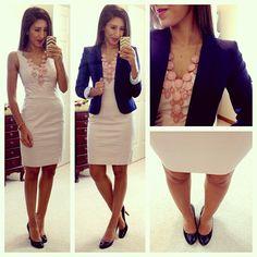 Sheath dress and blazer
