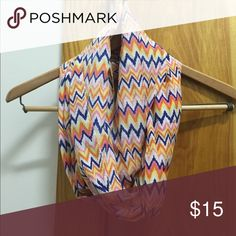 Scarf | Chevron | Multi-Color | One Size 100% Polyester scarf Accessories Scarves & Wraps