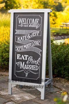 Welcome Wedding A Frame Chalkboard Sign