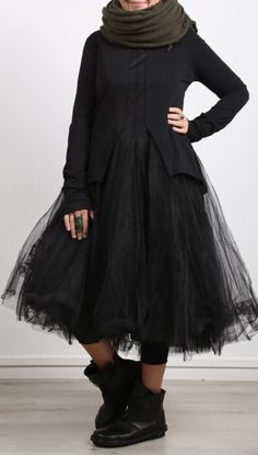rundholz black label - Kleid mit Tüllrock black - Winter 2018