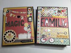 "Part 1 of start to finish ""Folio Style Mini Album"" -- scrapbooking mini ..."