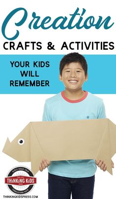 Creation Crafts & Activities for Kids Are you looking for great Creation activities for kids? Check out these fun, hands-on Creation crafts your kids will remember! Creation Activities, Creation Crafts, Parenting Articles, Parenting Books, Parenting 101, Bible Crafts For Kids, Craft Activities For Kids, Lessons For Kids, Bible Lessons