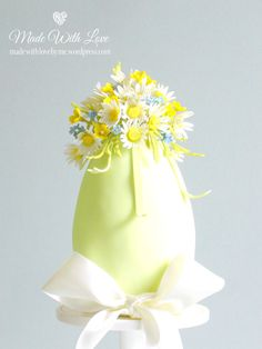 Daisies and Buttercups Easter Egg Cake - Cake by Pamela McCaffrey