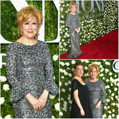 Miss M on the red carpet of the Tony's with her lovely daughter, Sophie.
