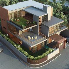 Best Modern House Design, Modern Exterior House Designs, Simple House Design, Bungalow House Design, Modern Design, Modern Contemporary, Amazing House Designs, Exterior Design, Modern Bungalow Exterior