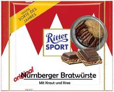 RITTER SPORT Fake Schokolade Nürnberger Bratwürste