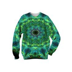 : Universal Kaleidoscope : Sweatshirt from Print All Over Me  /  #printalloverme #fantasymall #onlinemall   #fantasygifts #fantasyshopping #CorianderShea #mandala