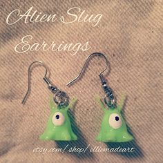 Check out this item in my Etsy shop https://www.etsy.com/listing/519210649/handmade-alien-slug-earrings