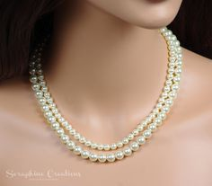 Hey, I found this really awesome Etsy listing at https://www.etsy.com/listing/251199941/double-strand-pearl-necklace-bridal