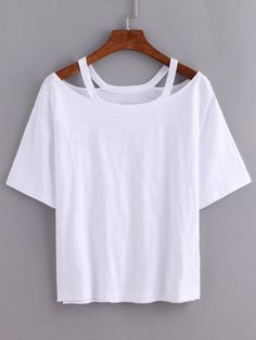Cutout Loose-Fit White T-shirt — 0.00 € -------------------------color: White size: one-size