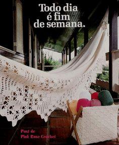 Eu Amo Artesanato: Rede de varanda com crochê