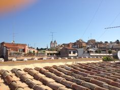 Beautiful view in Rome from our panoramic Roof-garden you can see St Peter Basilica and Trinità dei Monti Madrid, Sidewalk, Garden, Beautiful, Rome, Garten, Side Walkway, Lawn And Garden, Walkway