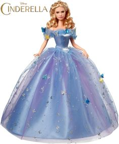 Disney Cinderella Royal Ball Doll by Mattel for the released of the live-action film CINDERELLA 2015 - Cinderella Barbie 2015 Movie Dolls Released