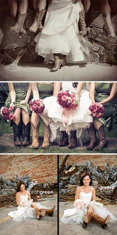 Wedding Cowboy Boots! I want to do this!