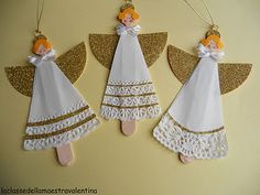 Doily Angel Ornament - cute to make in class!