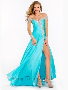 Off the Shoulder Pageant Gown Prima Donna 5645|PageantDesigns.com