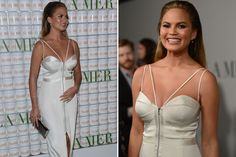 Chrissy Teigen's Baby Bump Makes Red Carpet Debut in Hollywood
