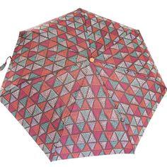 Parapluie automatique 'Joy Heart' marron turquoise