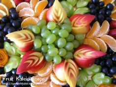 Simple Food Garnishing | ... display with nectarine garnishes apple leave garnishes and orang roses