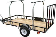 The TopTier™ Load Bar Kit instantly transforms a standard utility trailer into a high capacity transport system capable of carrying multiple canoes, kayaks and bikes while leaving the bed available for camping or hunting equipment. Tent Camping Beds, Canoe Camping, Motorcycle Camping, Camping World, Camping Hacks, Glamping, Camping Ideas, Diy Camping, Camping Trailers