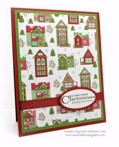 Card Creations by Beth: Quick and Easy Christmas Cards; Stampin' Up! Snow Festival