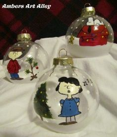 Charlie Brown Christmas Ornaments Set Of 3