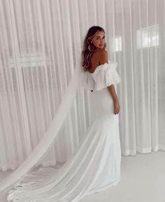Meet the gorgeous Hazel by Emmy Mae. This minimal stunner will take your breath away. Hazel is made from a luxurious French crepe and hugs all the right places to make you feel like the sexiest girl in the room. Bohemian Bride, Bride Hairstyles, Wedding Makeup, Hugs, Big Day, Wedding Photos, Minimal, That Look, Wedding Photography