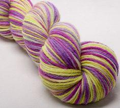 BFL Hand painted DK  yarn 100g skein knit crochet weave by YummyYarnsUK on Etsy