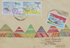 Mountains Mail Art from Fish Mail Art blog