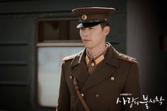 Hyun Bin as Captain Ri Jeong Hyeok a North Korean millitary officer in Crash Landing On You. Hyun Bin, Drama Korea, Korean Drama, Dramas, Best Kdrama, Young And Rich, Star Awards, Lee Jung, North Korea