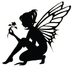 9 Best Images of Printable Fairy Silhouette - Free Fairy Silhouette, Fairy Silhouette Stencils and Tinkerbell Silhouette Fairy Silhouette, Silhouette Photo, Flower Silhouette, Silhouette Images, Stencils, Fairy Lanterns, Fairy Jars, Fairy Crafts, Creation Deco