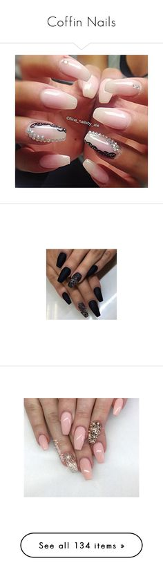 """Coffin Nails"" by deborah-97 ❤ liked on Polyvore featuring beauty products, nail care, nail treatments, nails, beauty, makeup, nail polish, unhas, unha and esmalte"