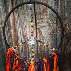 Hippie Peace, Hippie Art, Grateful Dead Dancing Bears, Spiritual Decor, Bear Decor, Dream Catcher Boho, Czech Glass Beads, Peace And Love, Etsy Shop