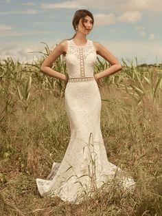 Belinda Unique Keyhole Back Bridal Gown   Rebecca Ingram Maggie Sottero, Bridal Gowns, Wedding Gowns, Wedding Bells, Blush Gown, Lace Bodice, Dress Lace, Boho Dress, Boho Wedding Dress