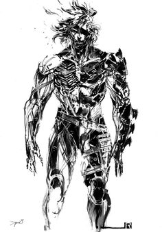 View an image titled 'Raiden Concept Art' in our Metal Gear Rising: Revengeance art gallery featuring official character designs, concept art, and promo pictures. Metal Gear Games, Snake Metal Gear, Metal Gear Rising Revengeance, Raiden Metal Gear, Metal Gear Solid Series, Cry Anime, Anime Art, Character Art, Character Design