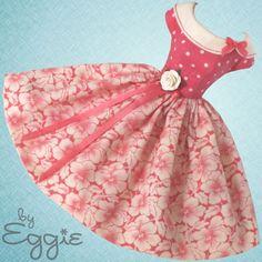 Coral Kiss - Vintage Barbie Doll Dress Reproduction Barbie Clothes Dress Fashion