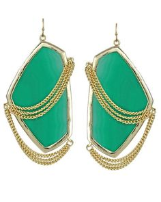 Kendra Scott Kavita Earrings in Green