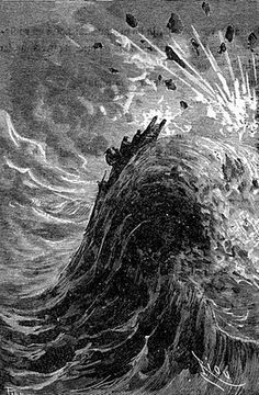 An illustration from Journey to the Center of the Earth by Jules Verne