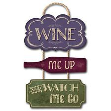 Wine Me Up... Colorful Trio Sign - Grapes Kitchen Decor Art Picture Made in USA