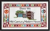 Modern House Sampler Cross Stitch Pattern Instant Download