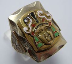 Vintage mexican biker ring